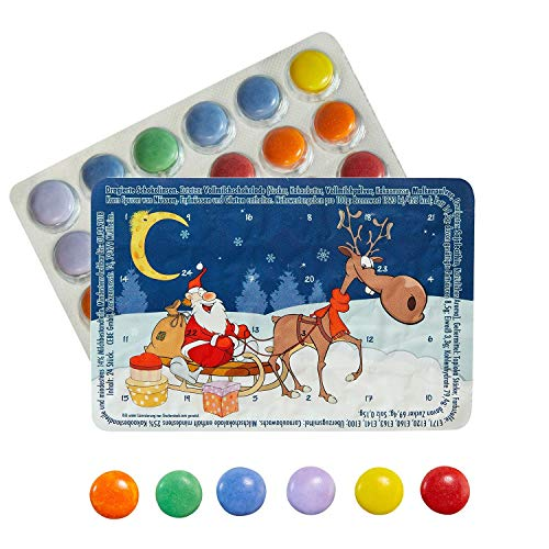 Kleinster Adventskalender Piccolo Calendario dell'Avvento Mondo Slitta di Natale cioccolatini – con l'acquisto di 3 calendari Ci Sono i 4 Gratis.