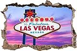 pixxp Blueprint 3D WD s2391_ 62x 42Welcome to Las Vegas Cartel perforar Pared Adhesivo Pared en 3D, Vinilo, Multicolor, 62x 42x 0,02cm