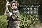 Pyramid America Game of Thrones Arya Stark Nothing Quote Laminated Dry Erase Sign Poster 12x18