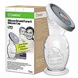 haakaa Milchpumpe Manuell + Deckel aus Silikon - Gen2 150ml mit Saugbasis - Handmilchpumpe Leise & Leicht zu reinigen