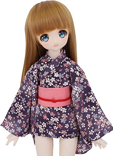 Petite Marie Japan for 1/4 Doll 16 inch 40cm MDD (Mini Dollfie Dream) MSD BJD Mini Kimono Hikara Fubuki Sakura Chirimen Purple Pink Belt [No.0083] Clothes Only not Include Doll