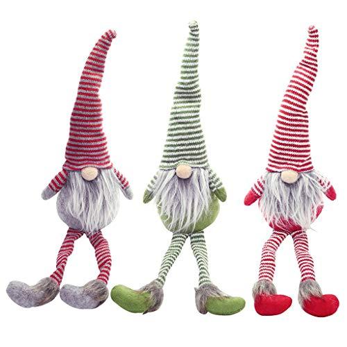 LoveLeiter Handgemachte schwedische Wichtel Santa Dolls süße Weihnachten Tomte Nisse Figur aus Weihnachtsfigur Dwarf schöneren Weihnachts Deko für Home Schaufenster Kinder Geburtstag Weihnachten