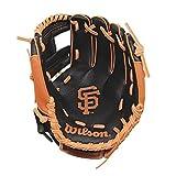 Wilson A200 Youth MLB Gant de baseball 25,4 cm avec logo de l'équipe M noir/orange