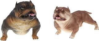 Flameer 2pcs Simulation American Bully Pitbull Dog Animal Action Figure Model Kids Educational Learning Nature Toys #B