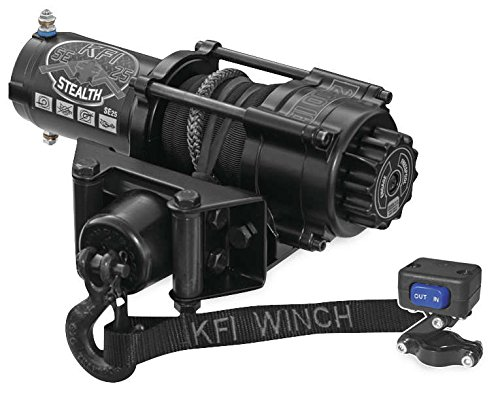 Fantastic Prices! New KFI 2500 lb Stealth Edition Winch & Model Specific Mounting Bracket - 2003-200...