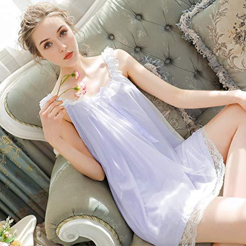 Handaxian Mit Modalem Nachthemd Prinzessin Süßes Nachthemd Spitze Student Langes Nachthemd Schnelltrocknender Schlafanzug