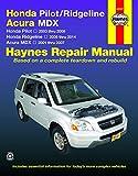 Honda Pilot (03-08), Ridgeline (06-14) & Acura MDX (01-07) Haynes Repair Manual