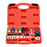 AutoWanderer Tool 22PCS Master Quick Disconnect Tool Kit for Automotive AC Fuel Line Disconnect Tool and Transmission Oil Cooler Line Red