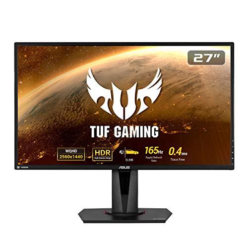 ASUS TUF Gaming VG27BQ HDR - Monitor da gioco 27 pollici, WQHD (2560x1440), 0,4 ms, 155 Hz, ELMB Sync, Compatibile G-SYNC, Sincronizzazione adattiva, HDR10