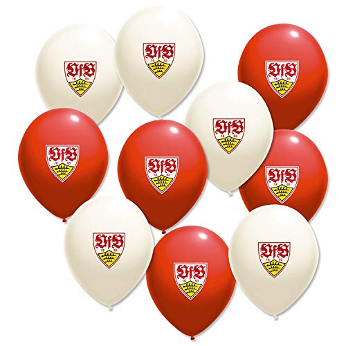 VfB Stuttgart Luftballons (10 Stück) Ballons, Balloons, Palloncini - Plus Lesezeichen Wir lieben Fußball