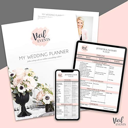 My Wedding Planner and Digital Spreadsheet Templates, Training Planning Videos, Timeline, Itinerary, Checklist, to-Do List, Vendors, Wedding Party, Organizer and More