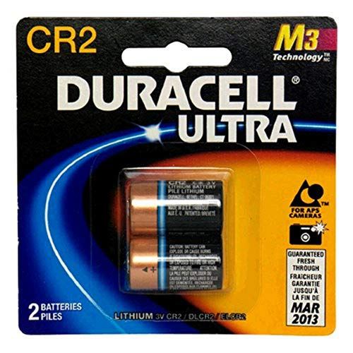 Duracell Ultra Lithium Battery 3V, CR2, 2 Batteries (Pack of...