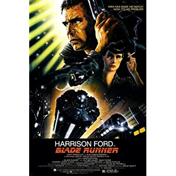 BLADE RUNNER movie poster 24X36 Ridley Scott starring Harrison Ford, Rutger Hauer, and Sean Young dystopian science fiction thriller film