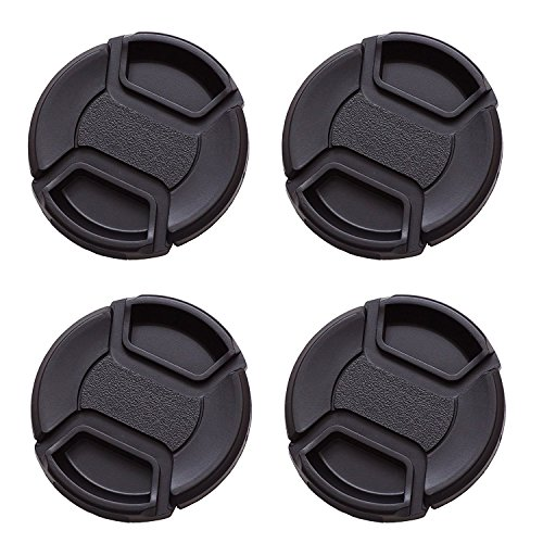 IMZ Lens Cap Bundel - 4 x 82MM Front Lens Filter Snap On Pinch Cap Protector Cover Voor DSLR SLR Camera Lens
