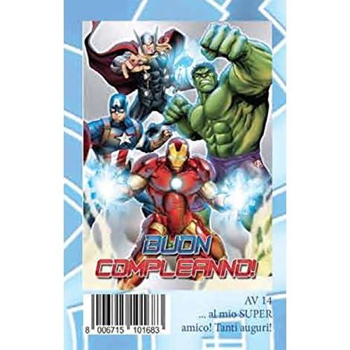 Avengers - Biglietto D'Auguri Buon Compleanno Assortito2