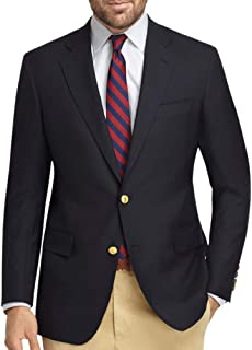 Brooks Brothers Men's Textured Explorer Regent Fit Two Button Blazer Jacket Navy Blue