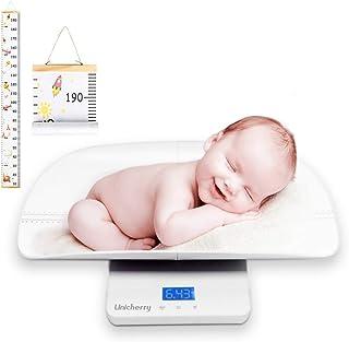 مقیاس کودک ، مقیاس دیجیتال چند منظوره کودک با نمودار رشد رایگان برای اندازه گیری کودک ، وزن حیوانات خانگی به طور دقیق. 3 حالت وزن ، عملکرد نگهدارنده ، نور پس زمینه آبی ، سینی ارتفاع
