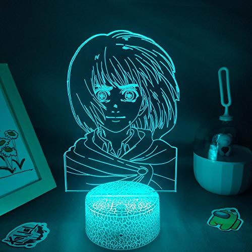 Anime Luz De Noche Lámpara De Ilusión 3D 16 colores mando a distancia para niños Habitación Luces decorativas para el hogar Regalos,Figura de juego Animal Crossing Tom Nook Lámparas LED 3D RGB