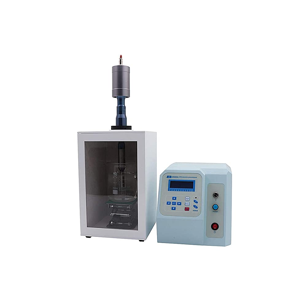 BAOSHISHAN超音波ホモジナイザー 50ml-3000mlホモジナイザー FS-1800N超音波分散機 材料は均一に分散/均質化 110V 白い