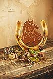 Ferrum Pferd Pony Portrait Metall Holz Edelrost Rost Rostfigur Holzfigur Deko Dekoration Deko-Idee Dekopferd Dekotier Rostdeko Holzdekko Gartendeko Geschenk-Idee Geschenk
