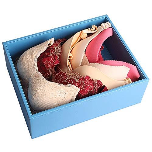 Boîte de rangement pour sous-vêtements Boîte à sous-vêtements - boîte de rangement pour les sous-vêtements en cuir soutien-gorge de bureau chaussettes boîte de rangement pour tiroir de type sous-vêtem