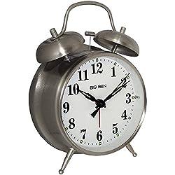 Westclox 70010 Bell Alarm Clock Big Ben Twin Series Silver Consumer electronics