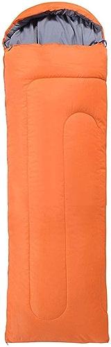 XHCP Sac de couchagePolyester Multifonctionnel épaississement Imperméable Extérieur Voyage Adulte Extérieur (Couleur  Orange)