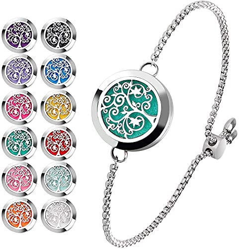 Essential Oil Diffuser Bracelet Stainless Steel Aromatherapy Locket...