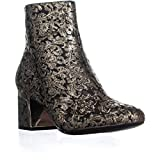 DKNY Womens Corrie Ankle Fabric Almond Toe Ankle Fashion Boots, Black, Size 7.5
