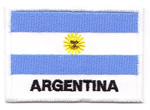 Aufnäher Iron on Patches Applikation Flagge Argentinien 7,2 x 4,9cm
