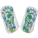 Calcetines de masaje para terapia de reflexología de fisioterapia, un par – para una terapia de masaje de pies fácil en casa, alivia los pies cansados y reflexología