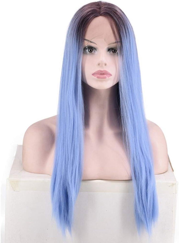 punto de venta barato ZhiGe Pelucas,Peluca encaje,Manga larga recta recta del pelo del del del cordón delantero del pelo de la moda del Color del gradiente  mejor opcion