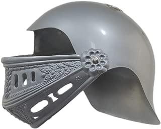 U.S. Toy Childrens Plastic Knight Medieval Crusader Costume Helmet Silver Gray