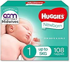 Newborn Nappies Size 1 (Up To 5kg) 108 Count