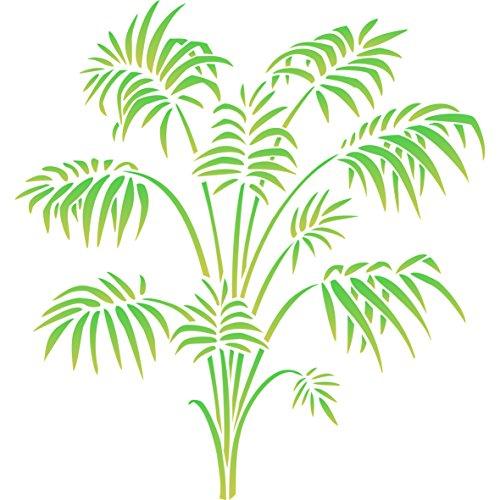 Bambus Palm Schablone–wiederverwendbar Viktorianisches Parlor Palm Frond Laub Wand Schablone–Vorlage, auf Papier Projekte Scrapbook Tagebuch Wände Böden Stoff Möbel Glas Holz etc. L
