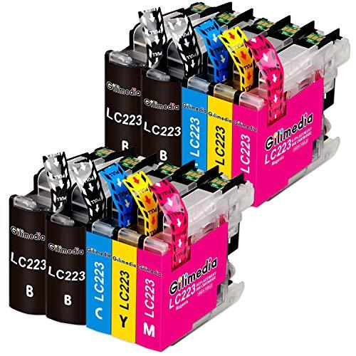 Gilimedia LC223 Cartuchos de tinta para Brother LC223 LC221 Tinta para Brother DCP-J4120DW MFC-J5320DW MFC-J4625DW MFC-J5625DW MFC-J4420DW MFC-J480DW MFC-J4620DW MFC-J5620DW MFC-J5720DW(Paquete de 10)