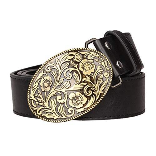 Cinturón Cuero Hombre,Arabesco Moda Cowboy Bull Metal Cinturones De Hebilla Grande,Antique Hebilla Cinturones Casual,Parte Punk Gótico Biker Cinturón,Cosplay Correa Correa Hip Hop Street Dance,Acc