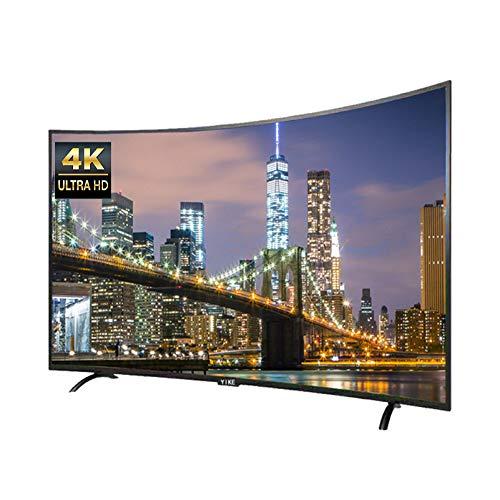 32/42/50/55/65 Pouces Téléviseur LCD incurvé 4K Ultra-Clair HDR antidéflagrant, Téléviseur Ultra-Mince LED réseau Intelligent, Projection d'écran de téléphone Portable,WiFi+Bluetooth, Smart TV Andro