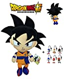 PBP Dragon Ball Super - Peluche Goku, Pelo Negro 30cm Calidad Super...