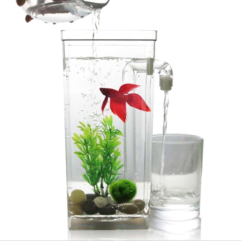 Aquarium goldfish Tank Aquarium Lazy SelfCleaning Desktop Mini Plastic Creative goldfish Tank Small Aquarium Fish Tank Aquarium