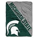 The Northwest Company Michigan State Spartans 'Halftone' Micro Raschel Throw Blanket, 46' x 60' , Green