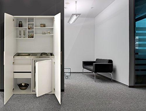 respekta - Mini cucina da ufficio, armadio, colore bianco
