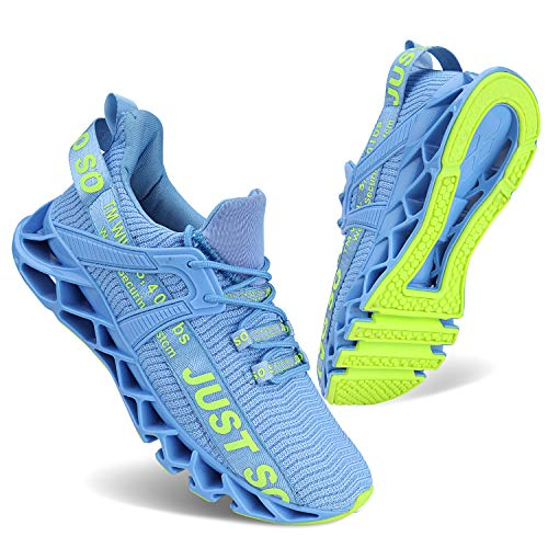 Vivay Damen Tennis Sportschuhe Breathable Gym Running Fashion Sneakers, Blau , 40 EU