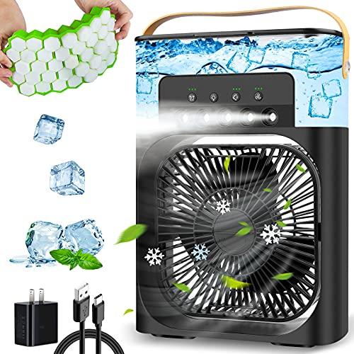 Portable Air Conditioner Fan, Personal Mini Air Conditioner Desk...