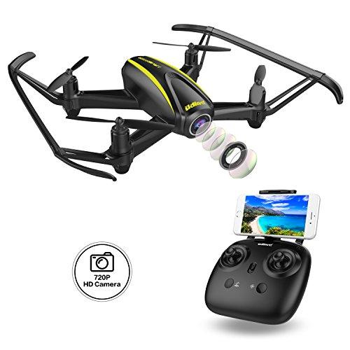 DROCON Drone con Telecamera HD 1280 x 720P con Grandangolare Regolabile Navigator Drone per Ragazzi...