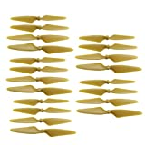 sea jump Accessories 20PCS for Hubsan H501s H501A H501C H501M H501S W H501S pro MJX B3 Bugs 3 B3H Bugs 3H F17 F100 HS700 HS700D Aircraft Spare Parts Aeromodel Drone Propellers Gold