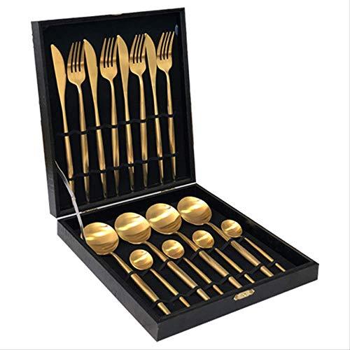 yywl Juego de cubiertos de acero inoxidable, juego de vajilla para cena, tenedores, cuchillos, cubiertos plateados, utensilios de cocina para el hogar, alimentos