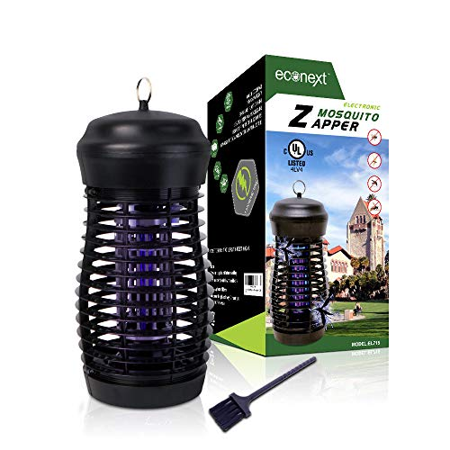 Econext UL Certified Electric Bug Zapper Insect Killer- 15W UVA Black Light - Waterproof Mosquito Eradicator, Fly Trap Lamp for Indoor/Outdoor Patio - High Electricity Grid - Extra Long 5' Power Cord