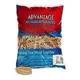 Alliance Rubber 26324 Advantage Rubber Bands Size #32, 1 lb Bag Contains Approx. 700 Bands (3' x 1/8', Natural Crepe)