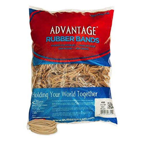 Alliance Rubber 26324 Advantage Rubber Bands Size #32, 1 lb Bag Contains Approx. 700 Bands (3
